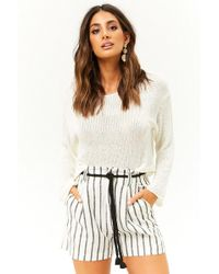 Forever 21 - Striped Rope Belt Shorts - Lyst