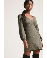 Forever 21 | Marled Knit Mini Dress | Lyst