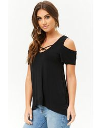Forever 21 - Caged High-low Swing Top - Lyst
