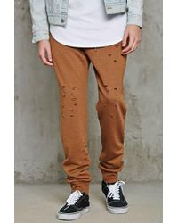 Forever 21 - Distressed Terry Joggers - Lyst