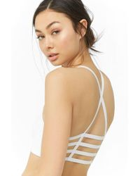 49b2dbc321 Lyst - Charlotte Russe Lace Caged Balconette Bralette in Gray