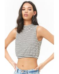 f94b20352c1 Forever 21 Polynesie Française Muscle Tee You've Been Added To The Waitlist  in White - Lyst
