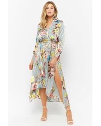 Forever 21 - Floral High-low Shirt Dress - Lyst
