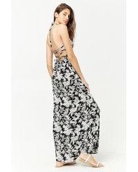 Forever 21 - Floral Halter Maxi Dress - Lyst