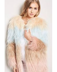Forever 21 - Ombre Faux Fur Coat - Lyst