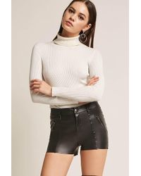 Forever 21 | Faux Leather Shorts | Lyst