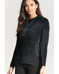 06d171512db Lyst - Forever 21 Contemporary Classic Knit Sweater in Black