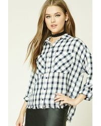 Forever 21 - Frayed Check Shirt - Lyst