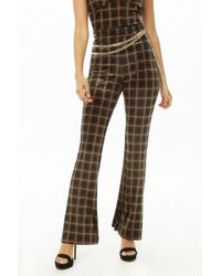 Forever 21 - Grid Print Flare Pants - Lyst