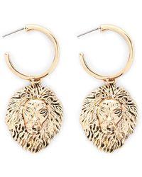 Forever 21 - Lion Drop Earrings - Lyst