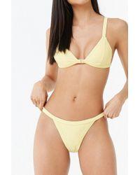 86af44716e3ef Lyst - H M Push-up Triangle Bikini Top in Natural