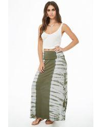 7d866f543c03 Forever 21 Tie Dye Maxi Skirt in White - Lyst