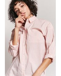 Forever 21 - Gingham Button-front Shirt - Lyst