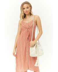 Forever 21 - Wavy Striped Button Front Dress - Lyst