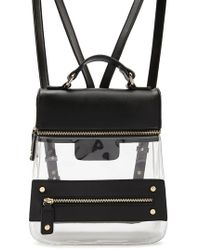 Forever 21 - Transparent Faux Leather Backpack - Lyst