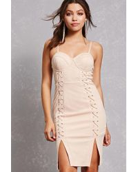 Forever 21 - Lace-panel Bustier Dress - Lyst
