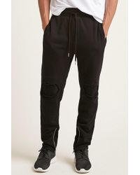 Forever 21 - Distressed Moto Joggers - Lyst