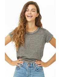 Forever 21 - Faded Wash Crop Top - Lyst