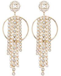 Forever 21 - Women's Rhinestone & Faux Pearl Drop Earrings - Lyst