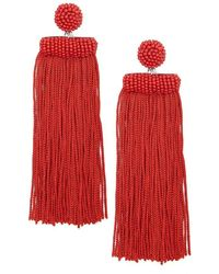 Forever 21 - Beaded Tassel Drop Earrings - Lyst