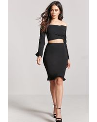 Forever 21   Stretch-knit Ruffle Skirt   Lyst