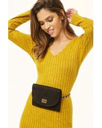 Forever 21 - Chain-strap Faux Suede Belt Bag - Lyst