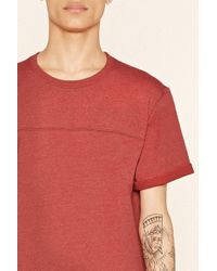 Forever 21 - Cuffed Cotton-blend Tee - Lyst