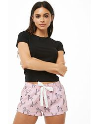 Forever 21 - Women's Flannel Dalmatian Print Pyjama Shorts - Lyst