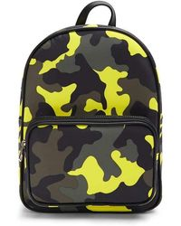 Forever 21 Camo Print Backpack , Yellow/multi