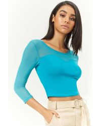 Forever 21 - Illusion Crop Top - Lyst