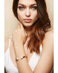 Forever 21 - Amber Sceats Double Faux Pearl Bracelet - Lyst