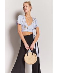 Forever 21 - Floral Wrap Crop Top - Lyst