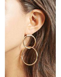 Forever 21 | Drop Hoop Earrings | Lyst
