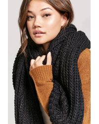 Forever 21 - Chunky Ribbed Oblong Scarf - Lyst