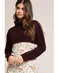 Forever 21 | Cropped Turtleneck Sweater | Lyst