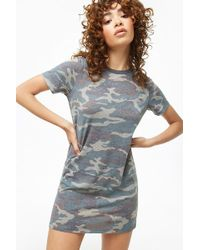8c2ed67db3574 Forever 21 Camo Print Hooded Mini Dress - Lyst