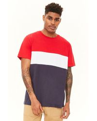 Forever 21 - Colorblocked Crew Tee - Lyst