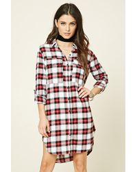 Forever 21 | Plaid Flannel Shirt Dress | Lyst