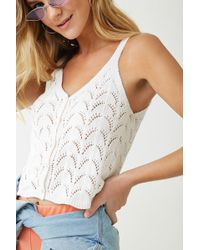 Forever 21 - Open Knit Top - Lyst