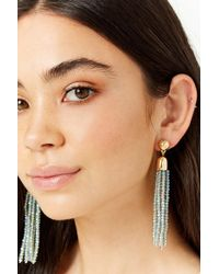 Forever 21 - Beaded Tassel Duster Earrings - Lyst