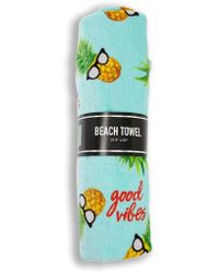 Forever 21 - Good Vibes Pineapple Beach Towel - Lyst
