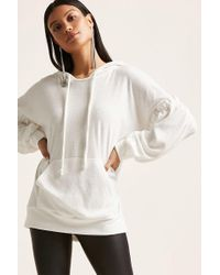 Forever 21 - French Terry Ruffle Hoodie - Lyst