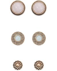 Forever 21 - Faux Gem Stud Earring Set - Lyst
