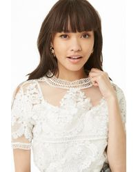 Forever 21 - Embroidered Mock Neck Top - Lyst