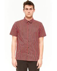 Forever 21 - Striped Button-front Shirt - Lyst