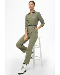 Forever 21 - Zip Utility Jumpsuit - Lyst