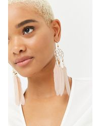 Forever 21 - Faux Feather Dreamcatcher Drop Earrings - Lyst
