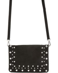 Forever 21 - Faux Suede Beaded Crossbody Bag - Lyst