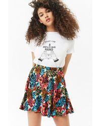 Forever 21 - Women's Floral Print Mini Skirt - Lyst
