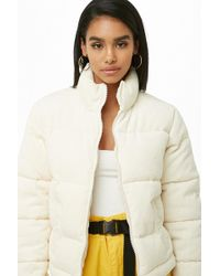 Forever 21 - Corduroy Puffer Jacket - Lyst